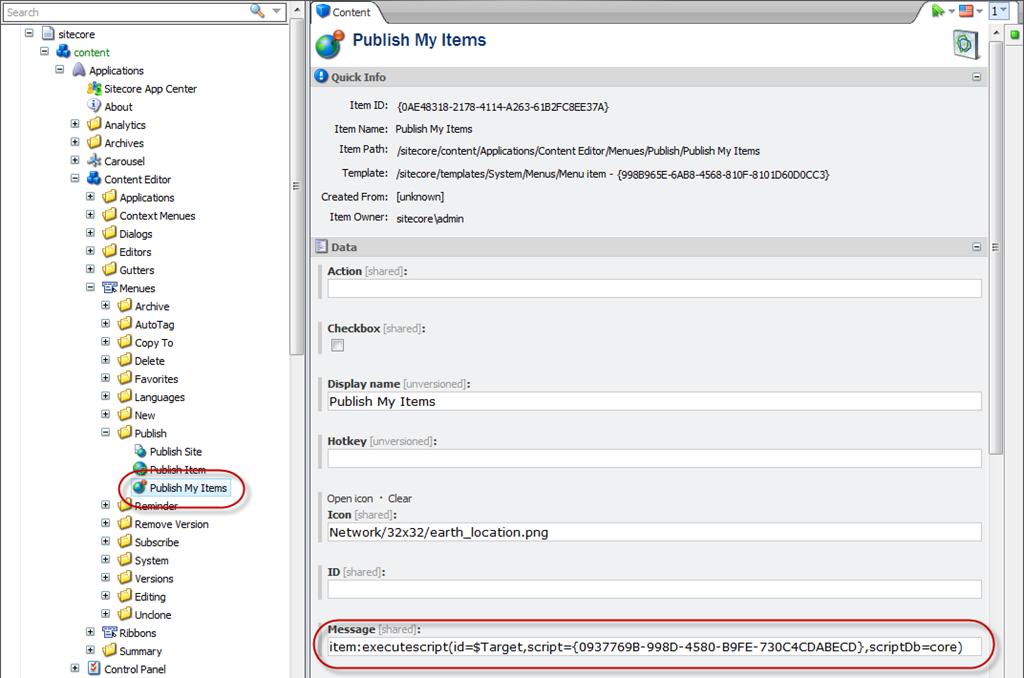 Extending Sitecore ribbon with PowerShell scripts | Codality