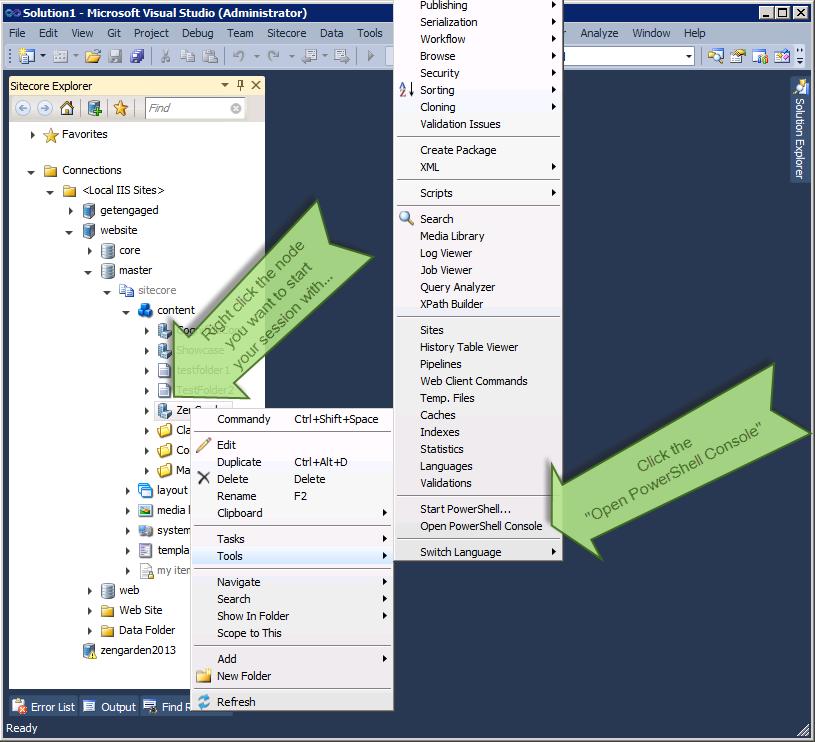 Sitecore PowerShell Console in Visual Studio   Codality